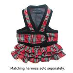View Image 2 of Cloak & Dawggie Holiday Tartan Ruffle Dog Skirt Accessory