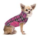 View Image 3 of Cloak & Dawggie Precision Fit Fleece Dog Jacket - Pink Plaid