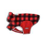 View Image 1 of Cloak & Dawggie Precision Fit Fleece Dog Jacket - Red Buffalo