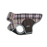 View Image 1 of Cloak & Dawggie Precision Fit Fleece Dog Jacket - Tan Plaid