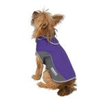 View Image 2 of Cloak & Dawggie Precision Fit Sport Dog Parka - Purple and Grey