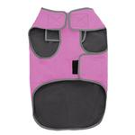 View Image 3 of Cloak & Dawggie Precision Fit Sport Dog Parka - Pink and Grey