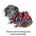 View Image 3 of Cloak & Dawggie Step-N-Go Dog Harness - Holiday Tartan