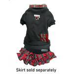 View Image 2 of Cloak & Dawggie Holiday Tartan Trim Dog Sweatshirt