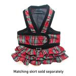 View Image 2 of Cloak & Dawggie Step-N-Go Dog Harness - Holiday Tartan