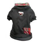 View Image 1 of Cloak & Dawggie Holiday Tartan Trim Dog Sweatshirt