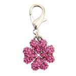 View Image 1 of Clover D-Ring Pet Collar Charm by foufou Dog - Pink
