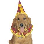 View Image 1 of Clown Collar and Hat Dog Halloween Costume