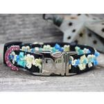 View Image 4 of Coco Blue Small Dog Collar and Leash Set by Diva Dog