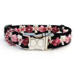 View Image 2 of Coco Pink Small Dog Collar and Leash Set by Diva Dog