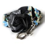 View Image 3 of Coco Blue Small Dog Collar and Leash Set by Diva Dog