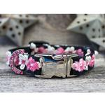View Image 4 of Coco Pink Small Dog Collar and Leash Set by Diva Dog