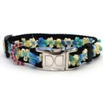 View Image 2 of Coco Blue Small Dog Collar and Leash Set by Diva Dog