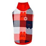 View Image 1 of Fonzie Turtleneck Cat Shirt by Catspia - Red