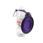 View Image 2 of Collapsible Travel Cup with Bottle Holder and Carabiner - Green