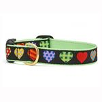 View Image 1 of Colorful Hearts Dog Collar by Up Country