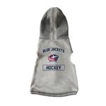 View Image 1 of Columbus Blue Jackets Crewneck Dog Hoodie - Gray