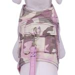 View Image 1 of Combat Dog Harness with Leash by Cha-Cha Couture - Pastel Camo