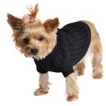 View Image 1 of Cable Knit Dog Sweater by Doggie Design - Jet Black
