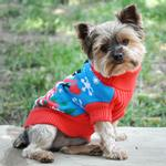 View Image 2 of Holiday Snowman Ugly Dog Sweater by Doggie Design