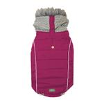View Image 1 of Combo Knit Dog Jacket - Berry