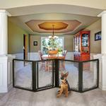 View Image 4 of Convertible Elite Mesh Dog Gate - 4-Panel