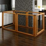 View Image 2 of Convertible Elite Pet Gate - 6 Panel - Autumn Matte