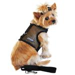 View Image 1 of Cool Mesh Dog Harness by Doggie Design - Solid Black