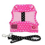 View Image 3 of Cool Mesh Dog Harness Under the Sea Collection by Doggie Design - Pink and Black Polka Dot Sunglasses