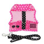 View Image 2 of Cool Mesh Dog Harness Under the Sea Collection by Doggie Design - Pink and Black Polka Dot Sunglasses