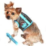 View Image 1 of Cool Mesh Dog Harness Under the Sea Collection by Doggie Design - Pirate Octopus Blue and Black