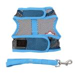 View Image 3 of Cool Mesh Dog Harness Under the Sea Collection by Doggie Design - Pirate Octopus Blue and Black