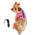 View Image 1 of Cool Mesh Dog Harness Under the Sea Collection by Doggie Design - Pink and Black Polka Dot Sunglasses