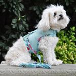 View Image 3 of Cool Mesh Dog Harness with Leash by Doggie Design - Surfboards and Palms