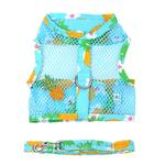 View Image 1 of Cool Mesh Dog Harness with Leash by Doggie Design - Pineapple Luau