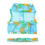 View Image 2 of Cool Mesh Dog Harness with Leash by Doggie Design - Pineapple Luau