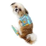 View Image 3 of Cool Mesh Dog Harness with Leash by Doggie Design - Pineapple Luau