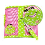 View Image 2 of Cool Mesh Dog Harness by Doggie Design - Polka Dot Frog on Pink