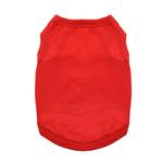 View Image 1 of Cotton Dog Tank by Doggie Design - Flame Scarlet Red