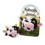 View Image 2 of Country Critter Faballs Dog Toy - Cow