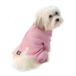 View Image 5 of Cozy Thermal Dog Pajamas - Pink