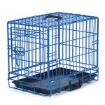 View Image 1 of Crate Appeal Collapsible Wire Dog Crate - Blue Splash