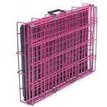 View Image 3 of Crate Appeal Collapsible Wire Dog Crate - Pink Punch