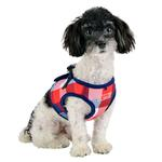 View Image 5 of Quinn Plaid Vest Dog Harness by Puppia - Navy