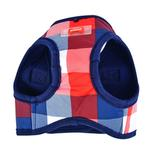 View Image 2 of Quinn Plaid Vest Dog Harness by Puppia - Navy