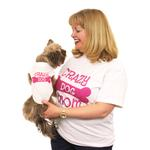 View Image 1 of Crazy Dog Shirt / Crazy Dog Mom Human Shirt - White with Pink Print