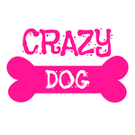 View Image 2 of Crazy Dog Shirt / Crazy Dog Mom Human Shirt - White with Pink Print
