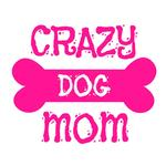 View Image 4 of Crazy Dog Shirt / Crazy Dog Mom Human Shirt - White with Pink Print