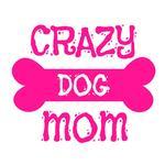 View Image 4 of Crazy Dog Shirt / Crazy Dog Mom Human Shirt - White with Pink Print