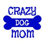 View Image 3 of Crazy Dog Shirt / Crazy Dog Mom Human Shirt - White with Blue Print